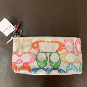 NWT Coach Scribble Cosmetic Pouch Small Bag